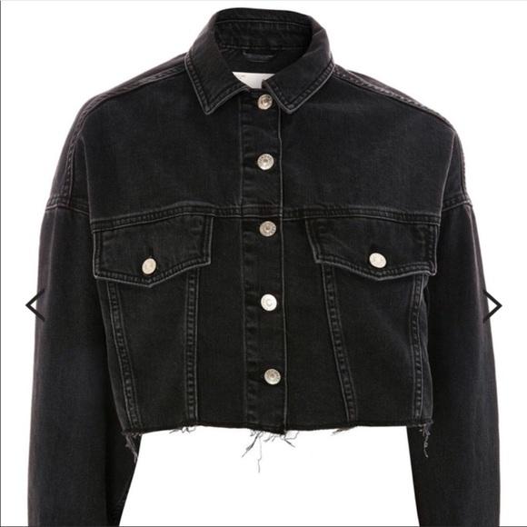 9d8d14b686c TOPSHOP MOTO Hacked off cropped denim jacket NEW. M 5bdf2971f63eeac887adc326